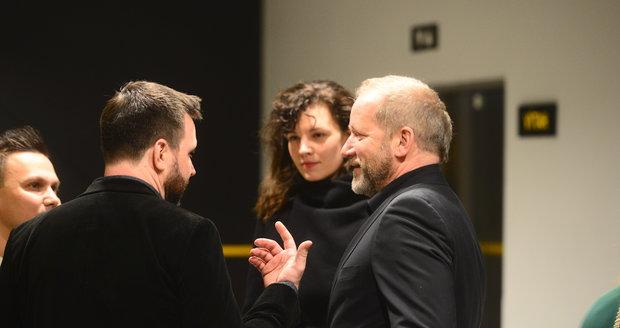 David Koller s partnerkou Annou na cenách Anděl