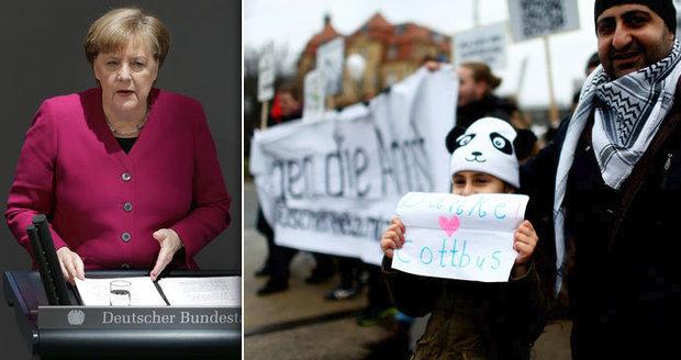 Merkelová: Přijmout migranty bylo správné. A miliony muslimů jsou naší součástí