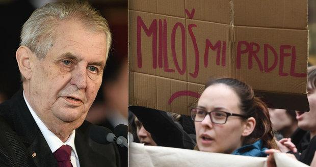 Zemana rozčílily protesty studentů: Zneužili dvanáctiletou holčičku, tvrdí