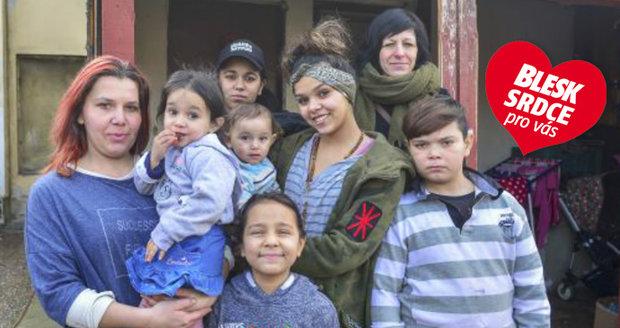 Rodina s šesti dětmi, které pomohla organizace Respondeo