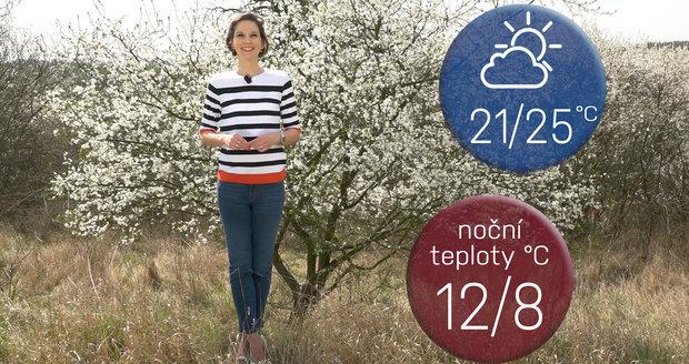 Počasí s Honsovou: O víkendu se opět dočkáme letních teplot, užívejme si venku