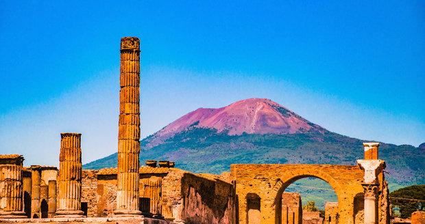 Vesuv a Pompeje