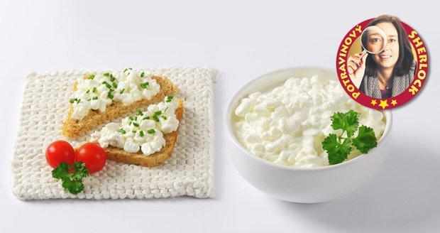 Test čerstvcýh sýrů cottage:Utopený sýr v kelímku