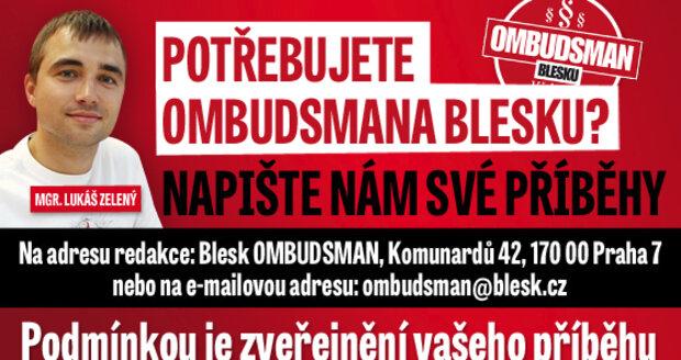 S případem pomohl ombudsman Mgr. Lukáš Zelený