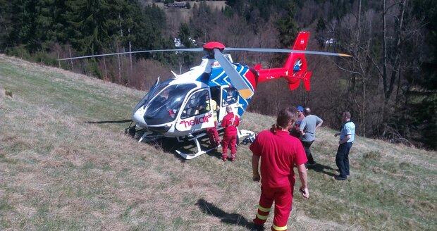 Záchranáři zasahovali u vážných úrazů.