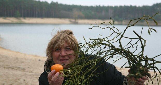 Alena Vykulilová na fotografii od svého kolegy a přítele, též vynikajícího fotografa Františka Dostála.