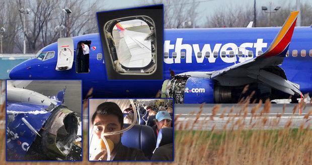 Letadlu vybuchl 10 km nad zemí motor: Cestující vytáhl podtlak rozbitým oknem ven