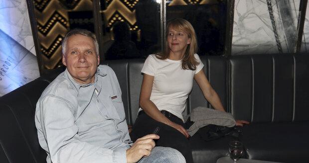 Jan Herčík s novou partnerkou