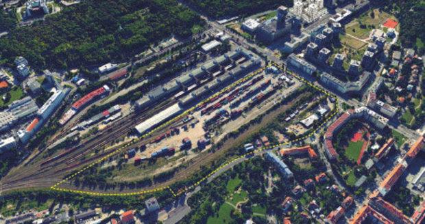 Na vyznačeném místě má v budoucnosti vzniknout nová rezidenční čtvrť.