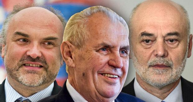 """Zemanův boj s """"profesory"""": Stáhl stížnost a o jmenování Ošťádala a Fajta rozhodne znovu"""