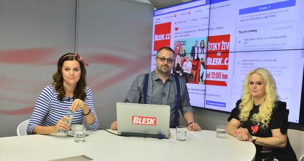 Ornella Koktová a Monika Štiková se sešly ve studiu Blesku.