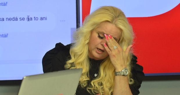 Monika Štiková ve studiu Blesku