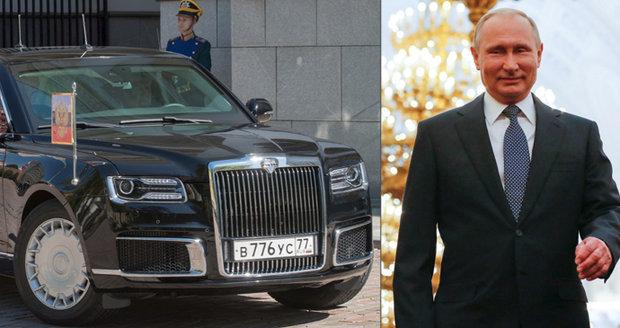 Putinova nová ruská limuzína stála 4 miliardy korun. Ujel s ní 200 metrů