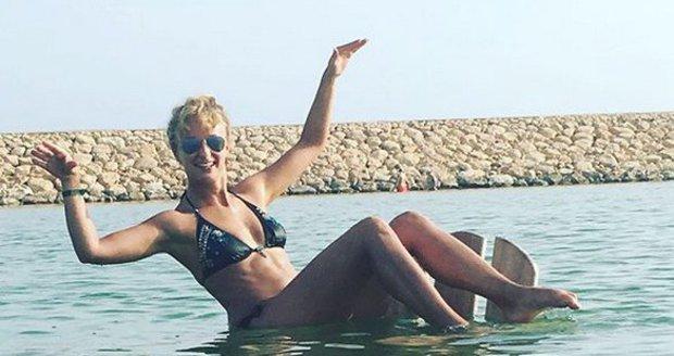 Lucie Hunčárová v Ománu