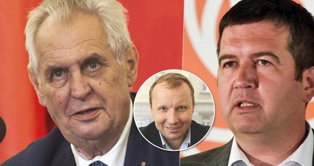 Zeman se zlobí: Hamáček porušil dohodu. Za Pocheho měla přijít náhrada