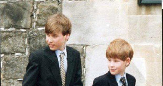 Malí princové William a Harry