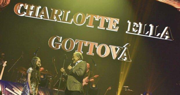 Charlotte Ella Gottová vystupovala s tátou Karlem Gottem na koncertě v Bratislavě