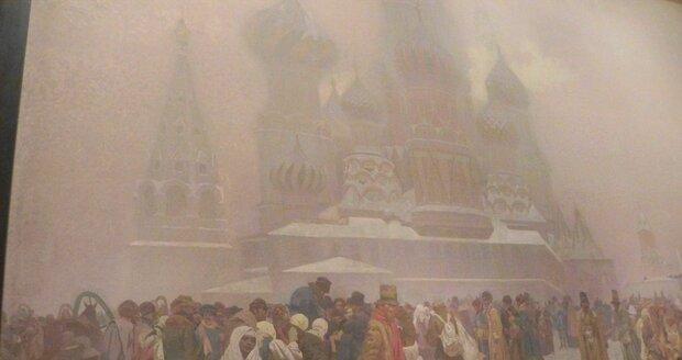Plátno Zrušení nevolnictví na Rusi, 1914