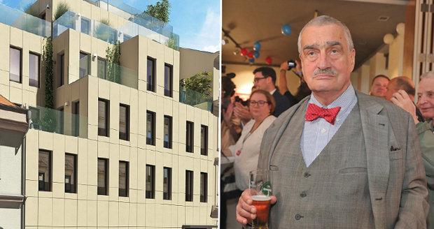 Karel Schwarzenberg (81) dostavěl dům v centru Prahy. Knížecí bydlení za 15 milionů!