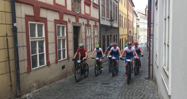 Průběh cyklistických závodů Pražské schody 2018