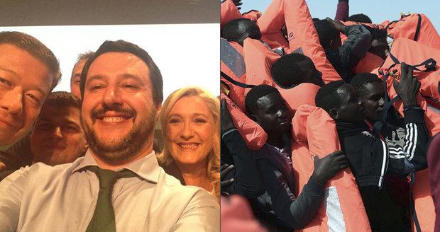 Okamurův italský partner tlačí na EU: Vezměte si migranty, nejde jen o náš problém