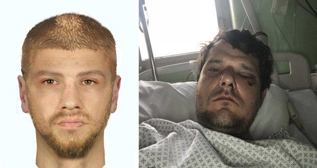 Policie pátrá po útočníkovi, který brutálně zmlátil cyklistu.