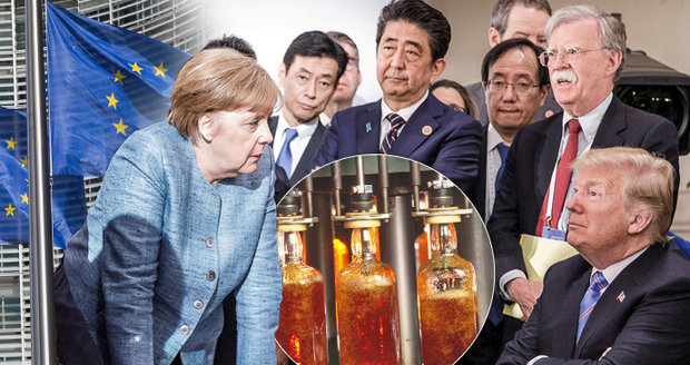 """Clem na máslo a bourbon """"nakrkla"""" EU Trumpa. Zuří obchodní válka, zasáhne i Česko"""