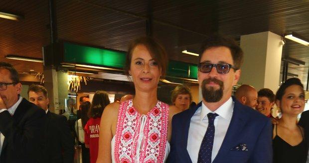 Lenka Vlasáková a Jan Dolanský na festivale v Karlových Varech