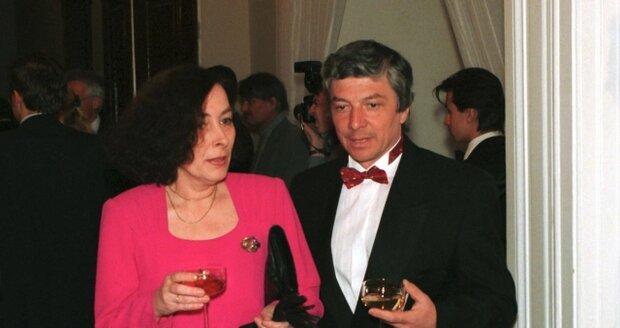 Vladimír Železný s manželkou Martou v roce 1995