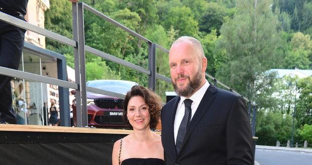 Martha Issová a David Ondříček na festivalu ve Varech