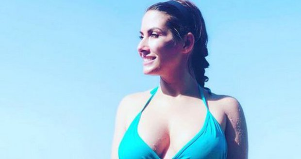 Eva Decastelo na dovolené v Řecku