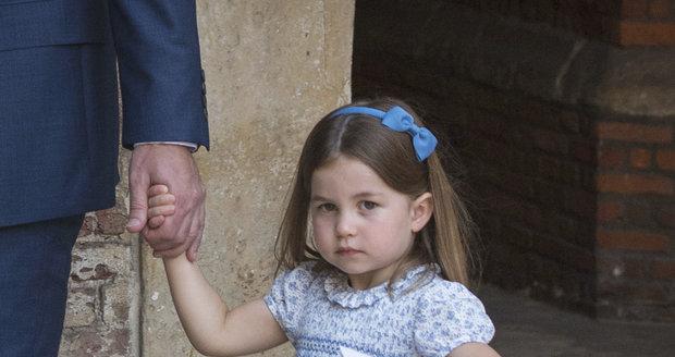 Princezna Charlotte na křtinách prince Louise.