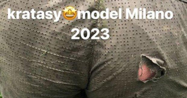 Vendula Pizingerová měla roztržené kalhoty.