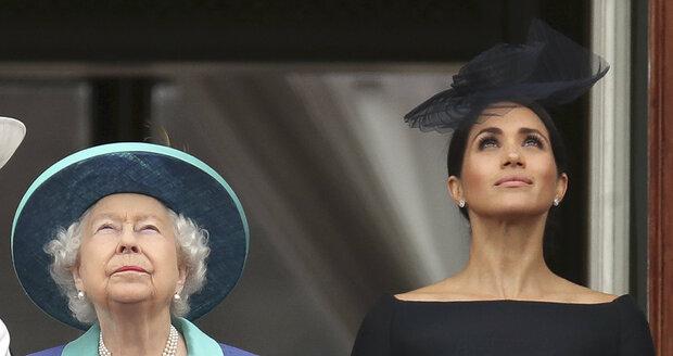 Vévodkyně Meghan a královna Alžběta
