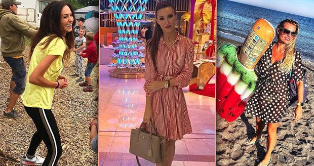 České celebrity se rozutekly na dovolené do různých koutů světa.