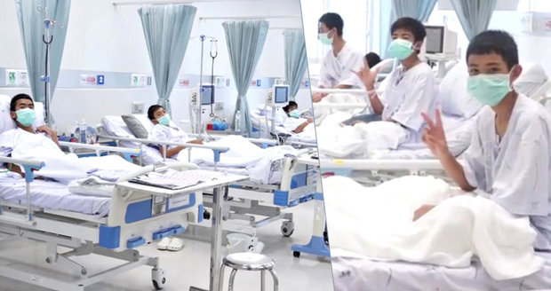 Zachránění chlapci v nemocnici: Rodiče viděli jen přes sklo. A varují je i před alkoholem