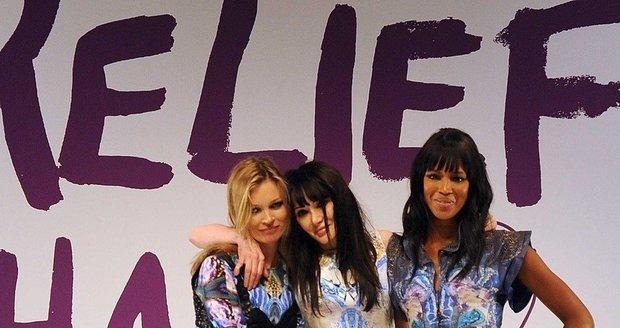 Kate Moss, Annabelle Neilson a Naomi Campbell