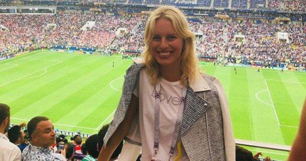 Na zápase byla i Karolína Kurková.