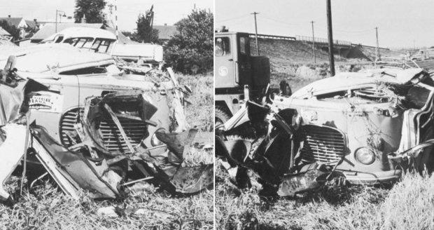 Osudová chyba stála život 23 lidí: Vlak narazil na přejezdu u Bezděčína do autobusu plného lidí