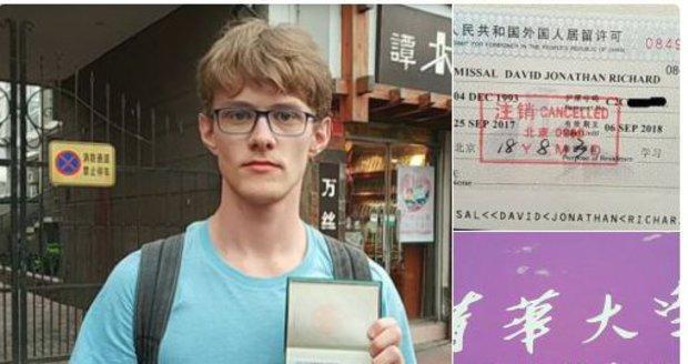 Německého studenta žurnalistiky vyhostili z Číny. Opakovaně psal o uvězněných obhájcích lidských práv