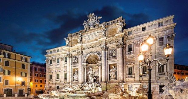 Slavná fontána di Trevi