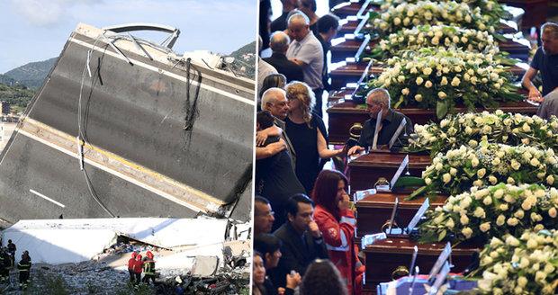 Státní pohřeb obětí z mostu. V troskách našli holčičku (†9), již 41 mrtvých