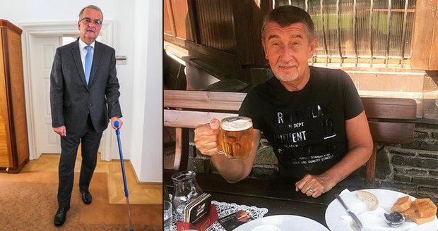 Babiš na pivu, Kalouskovi po operaci otrnulo: Ostrý útok z nemocničního lůžka
