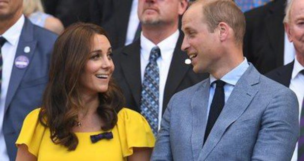 Kate a William na Wimbledonu