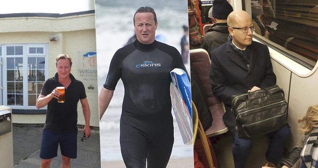 Jak se žije premiérům ve výslužbě? Cameron si užívá luxusu u moře, Sobotka jezdí metrem