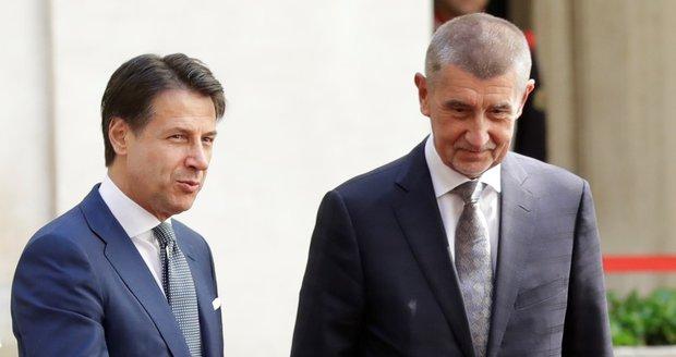 """""""Češi žádného uprchlíka nechtějí."""" Babiš tvrdí, že to Italovi Contemu vysvětlil"""