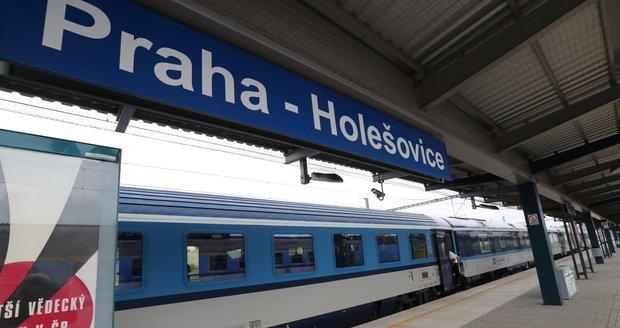 Nádraží Praha-Holešovice.