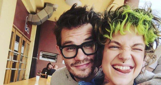 David Kraus s make-up umělkyní Kateřinou Mlejnkovou.