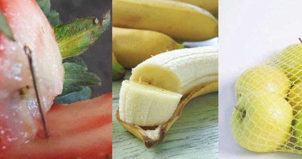 Austrálii děsí ovoce s jehlami. Po jahodách se objevily i v banánu a jablku