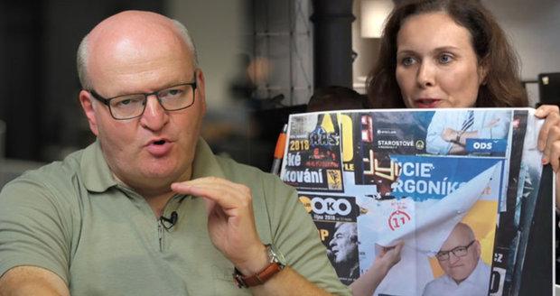 Duel: Herman mi přelepuje plakáty, stěžuje si Orgoníková. Exministr dupl na firmu